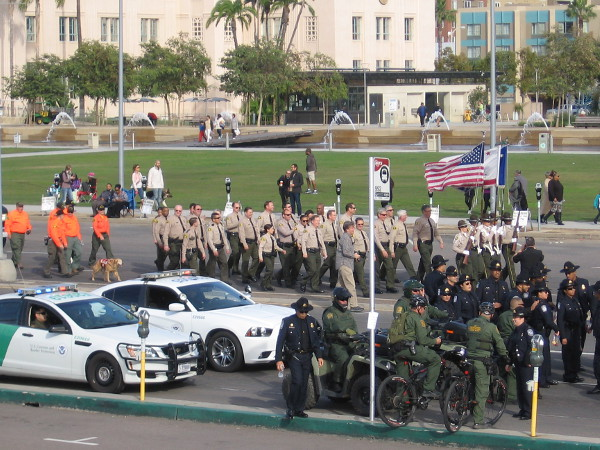 I think these guys marching are the San Diego County Sheriffs.