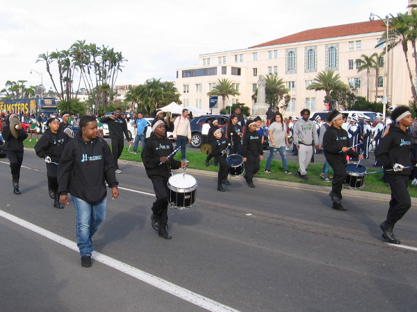 Here come some drummers!