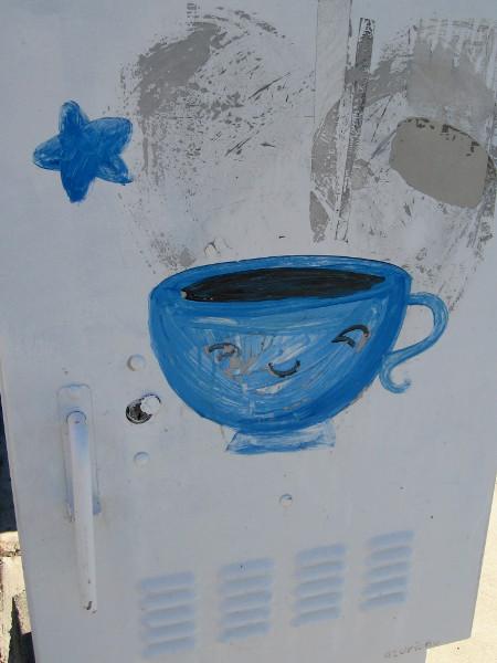 A happy face on a teacup!