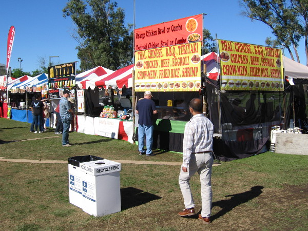 Lots of Asian food could be found around the San Diego Tet Festival, as well as more ordinary American fare.