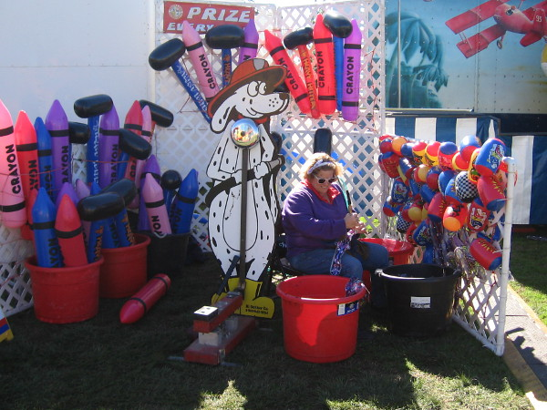 More area at the festival was dedicated to kids games and carnival rides than anything else! Oh, to be young again!