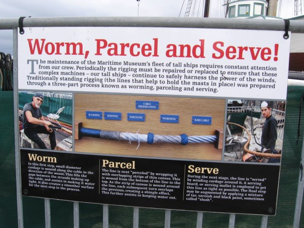 Worm, Parcel and Serve! A never-ending story of human ambition battling water, sun, salt and wind.