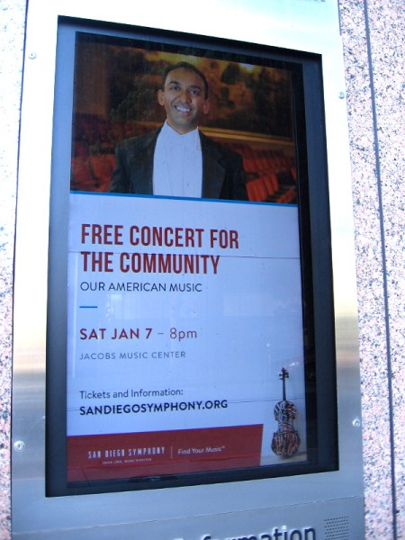 Walking past Symphony Towers, I noticed this graphic on their outdoor display. A free concert for the community next weekend!