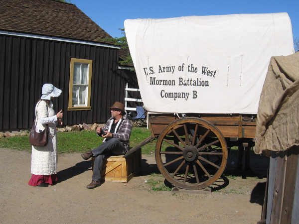Another unique and memorable scene from Mormon Battalion Commemoration Day in Old Town San Diego!