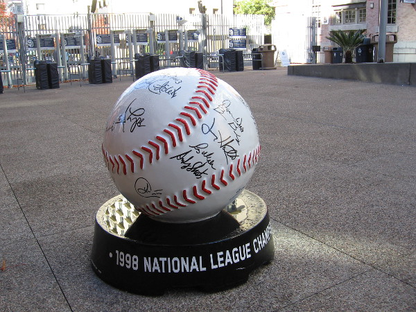 And, of course, the second baseball has the autographs of the 1998 National League Champion team!
