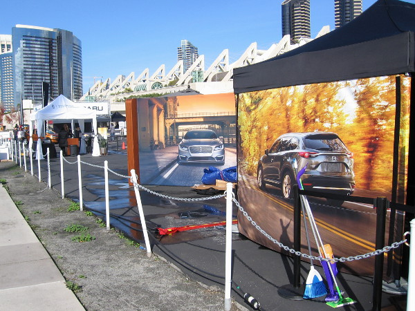 The San Diego International Car Show is taking place this weekend. Test drives can be taken in the parking lot behind the convention center.