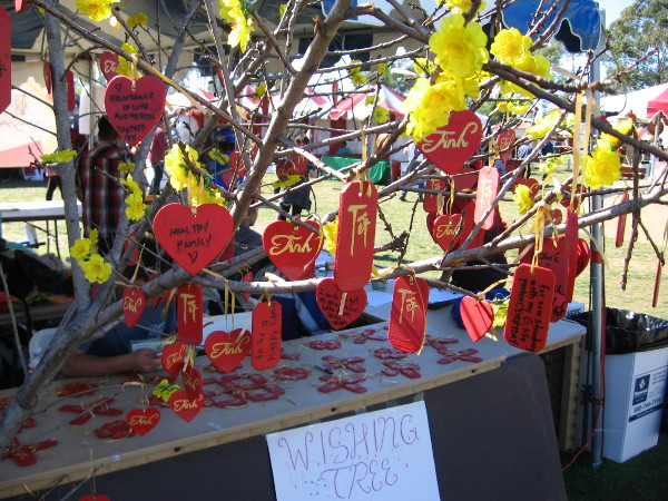 A beautiful wishing tree at the San Diego Tet Festival.