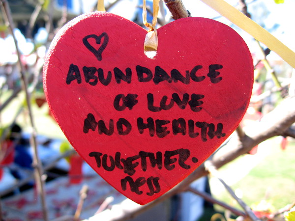 A wish for abundance of love and health. Togetherness.