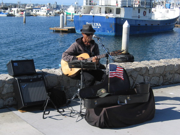 In San Diego, walks are often accompanied by music.