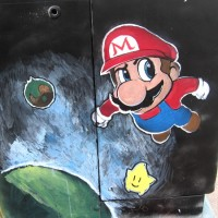 Japanese video game characters in fun street art!
