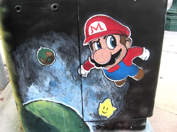 Super Mario Galaxy has our hero capturing Power Stars in Outer Space! More street art in National City!