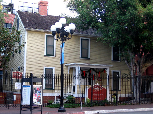 Photo of the William Heath Davis House Museum taken from across Island Avenue.