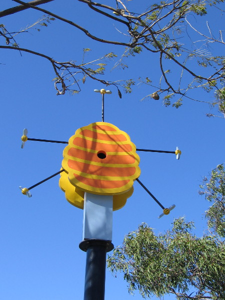 The Birds and The Bees. Birdhouse by artist Joel Sotelo.