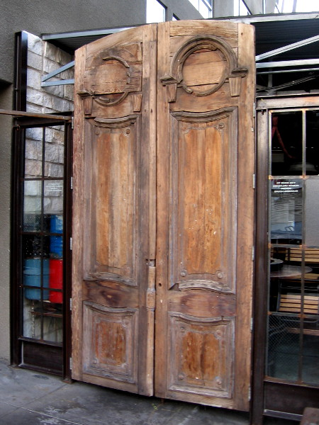 These old wooden doors to the patio of Indigo Grill in Little Italy are enormous!