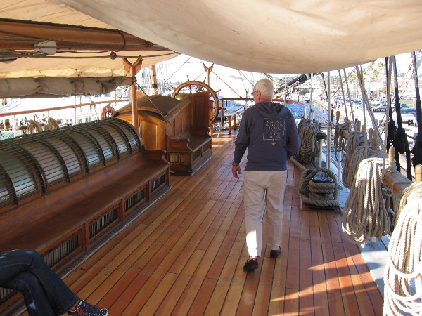 This is the first weekend visitors to the Star of India can walk on the beautiful new poop deck!