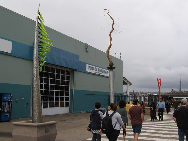 Three sculptures by the San Diego Cruise Ship Terminal on the Embarcadero were part of Urban Tree exhibitions in past years.