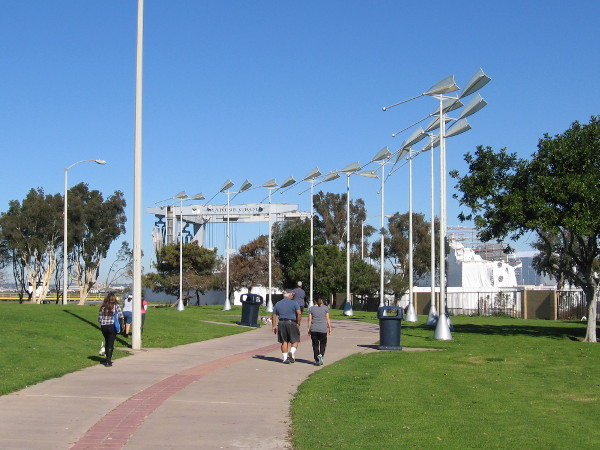 Still walking north, toward more public art at Chula Vista's Bayside Park. This is Wind Oars by George Peters and Melanie Walker, 2004.