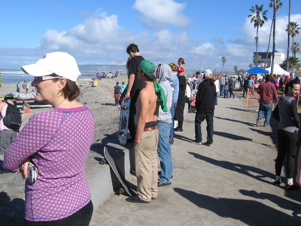 Considering the event is only two years old, a nice turnout was evident along the boardwalk.