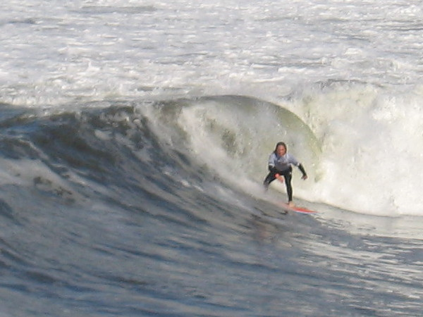 A fun surf photo. (About the best my little camera can manage at a distance.)