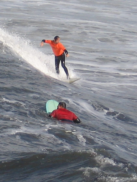 More cool action at the 2nd Annual OB Pier Surf Classic.
