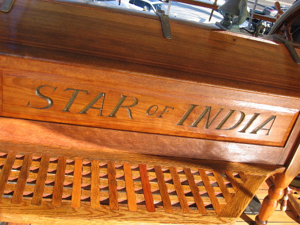 The 1863 Star of India is a world treasure. It's the oldest active sailing ship in the world!
