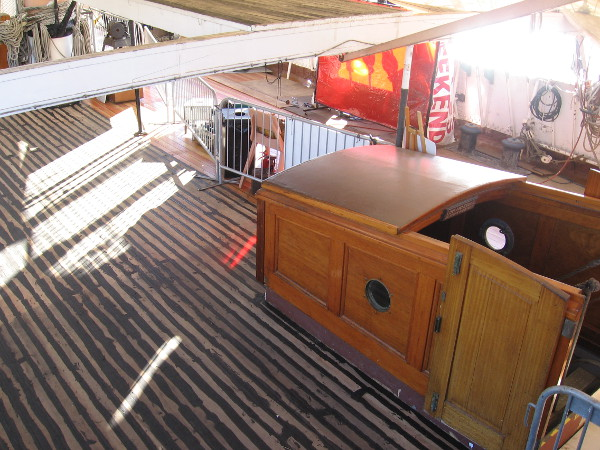 The port side of the main deck has been caulked! Now just to sand and apply several layers of sealing protection.
