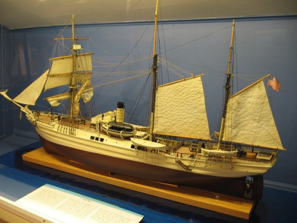 The Cutter Bear, by famous ship modeler Dr. William Brown, a local artist. His amazing work appears in prestigious museums around the world, including Mystic Seaport and the Smithsonian Institution.