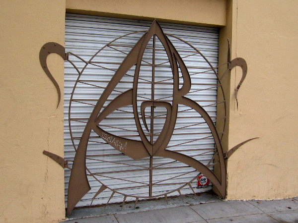 This artistic metal gate definitely caught my eye as I walked around San Diego!
