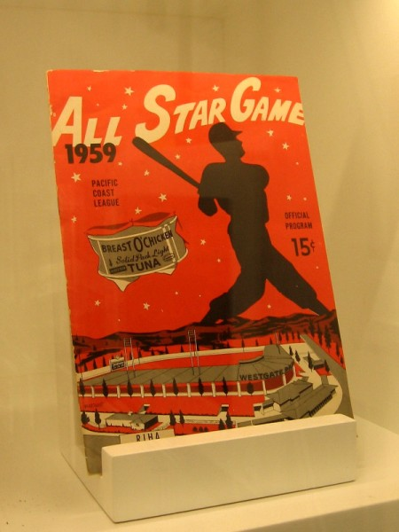 Old baseball program from the 1959 Pacific Coast League All Star Game.