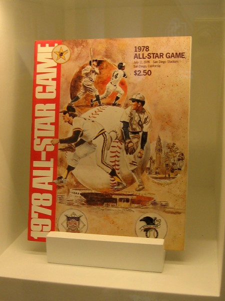 Souvenir program for the 1978 All-Star Game played in San Diego Stadium.