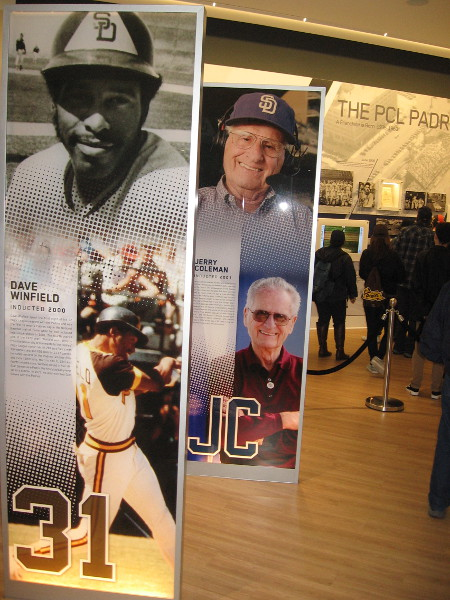 Photos of two Padres legends. Dave Winfield and Jerry Coleman.