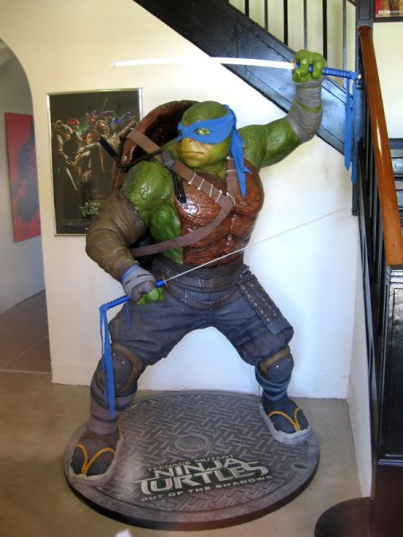 Peer into one window at IDW Publishing, headquartered at Liberty Station, and you'll see a huge statue of Leonardo, of the Teenage Mutant Ninja Turtles!