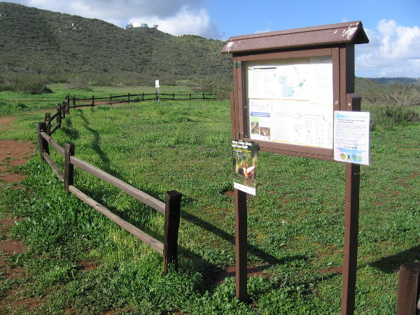 Sign at the Par 4 trailhead includes information for hikers and those on horseback. The trail follows the Sweetwater River in Jamul.