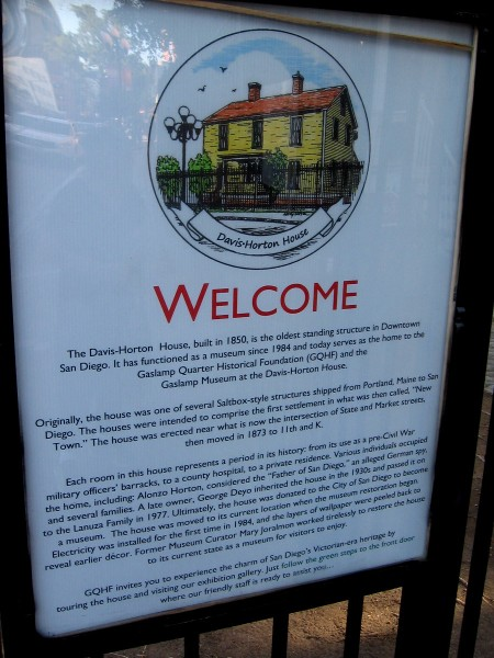 History Inside The William Heath Davis House Cool San