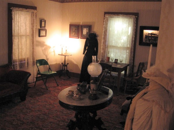 A look at the first floor living room where family and guests would gather.