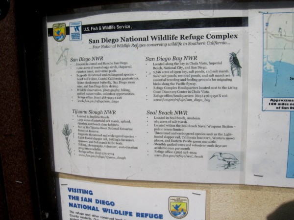 The San Diego National Wildlife Refuge Complex includes four areas designed to protect wildlife in Southern California.