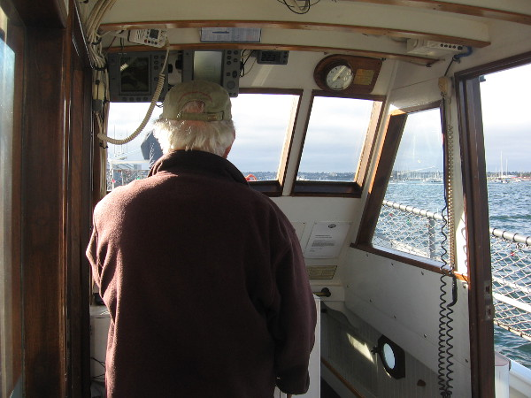 Captain of the Pilot is getting ready to pull away from the floating museum.