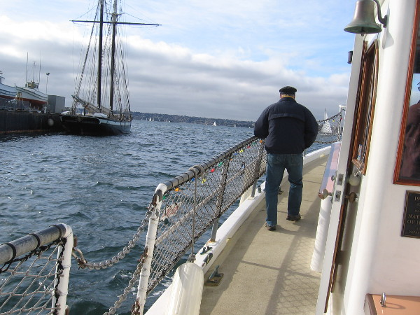 Here we go out onto San Diego Bay! I see Californian, the official tall ship of the state of California, to our left.