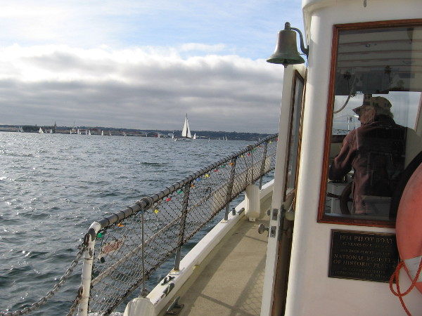 It's a pleasant day out on the water. We head initially in the direction of Shelter Island and Point Loma.