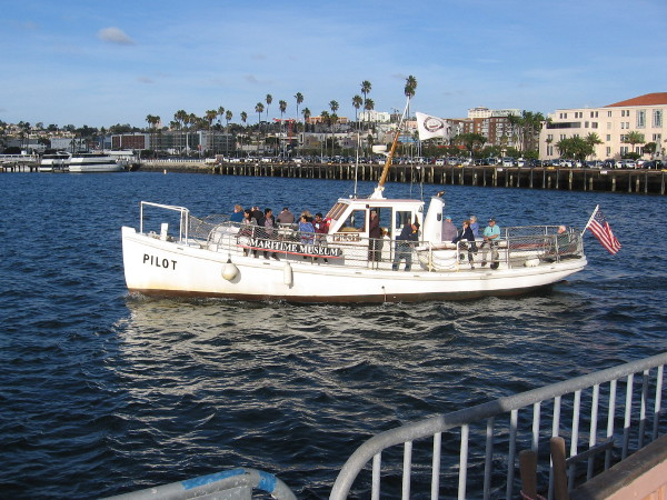 While I linger at the museum and check out lots of cool nautical stuff, the Pilot takes off on another fun tour. Should you visit San Diego, I recommend buying a ticket!