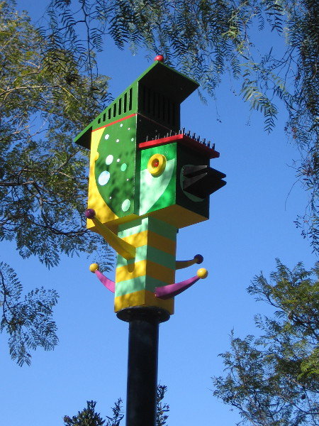 Birdinsky, a birdhouse by artist Amy Levine.