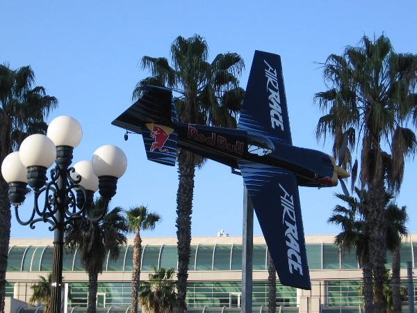 A cool airplane of the type San Diego will see in two weeks at the Red Bull Air Race above San Diego Bay.