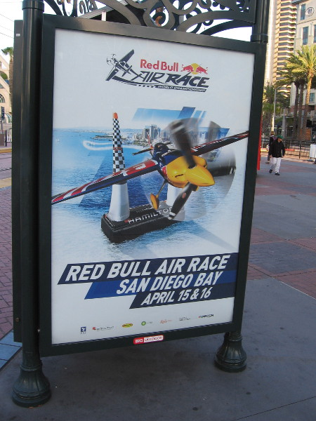 Poster promotes the upcoming Red Bull Air Race over San Diego Bay, on April 15 and 16.