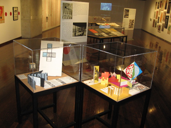 A special exhibit at the public library in downtown San Diego showcases modern graphic design from the mid-twentieth century.