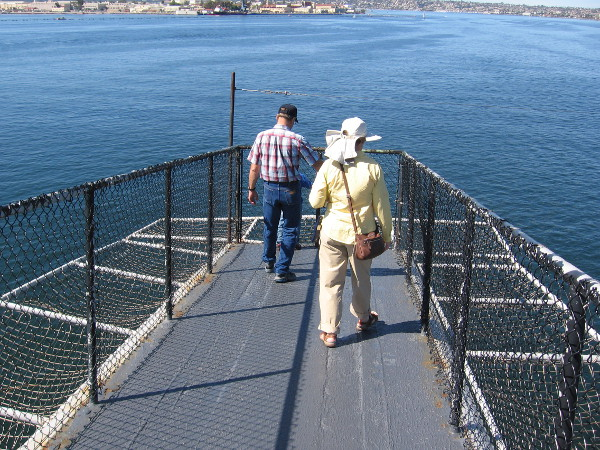 People walk down one horn for an amazing view of San Diego Bay.