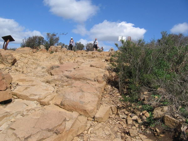 Once we cross this rocky expanse, we will be at the summit of Cowles Mountain, highest point in the city of San Diego!
