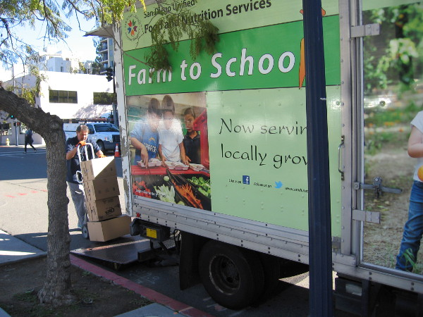 Meals are being delivered by the San Diego Unified School District's Food and Nutrition Services to Kipp Adelante Preparatory Academy.