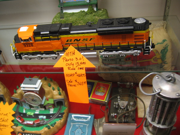 A locomotive for sale among other fascinating stuff.