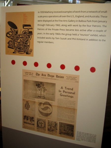 Small-scale press operations created many types of colorful printed material, including greeting cards.