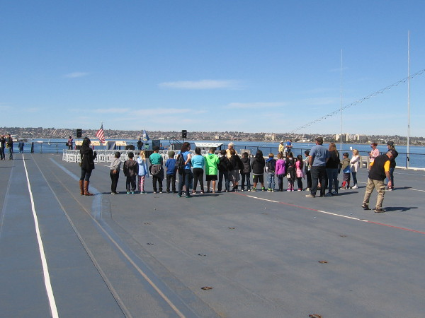 I noticed some school kids learning about the Midway from a docent.